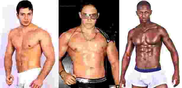 Da esquerda para a direita Thiago Alves, Everton Gaeta e Wallace Bernardo concorrem em concurso da G Magazine (7/6/2011) - Divulgação
